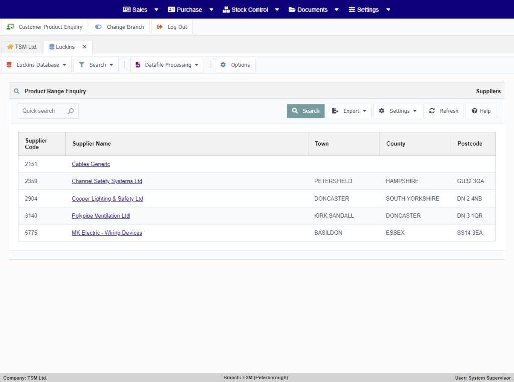 luckins-database-product-range-enquiry